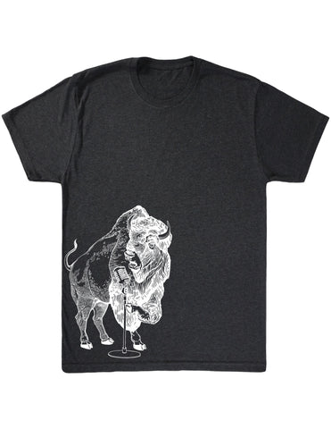 SEEMBO Bison Trying To Sing Men's Tri-Blend T-Shirt Side Print