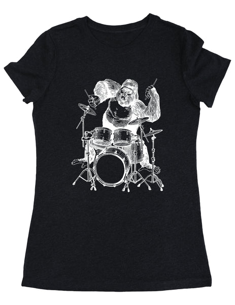 SEEMBO Gorilla Playing Drums Women's Tri-Blend T-Shirt