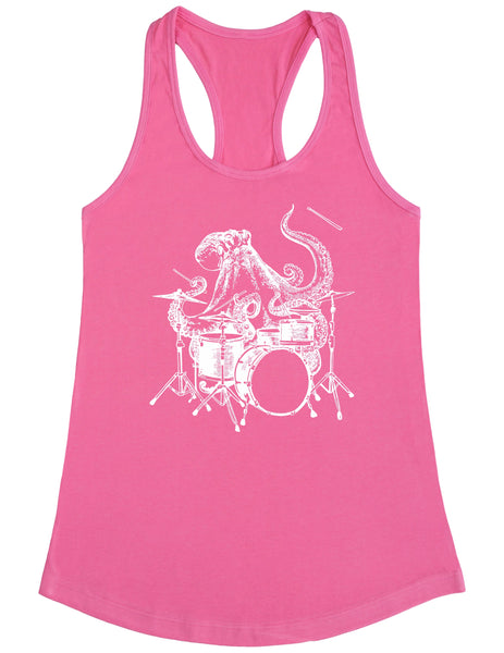 SEEMBO Octopus Playing Drums Women's Poly-Cotton Tank Top