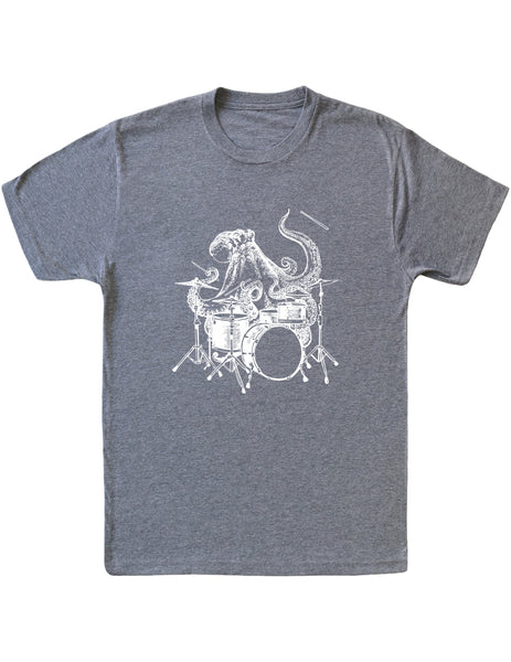 SEEMBO Octopus Playing Drums Men's Tri-Blend T-Shirt