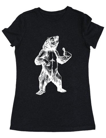 Seembo Bear Trying To Sing Women's Tri-Blend T-Shirt