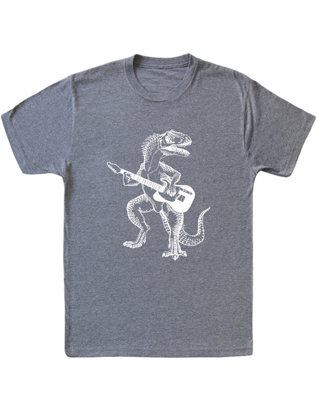 SEEMBO Dinosaur Playing Guitar Men's Tri-Blend T-Shirt