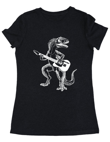 SEEMBO Dinosaur Playing Guitar Women's Tri-Blend T-Shirt