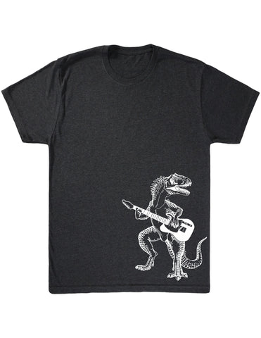 SEEMBO Dinosaur Playing Guitar Men's Tri-Blend T-Shirt Side Print