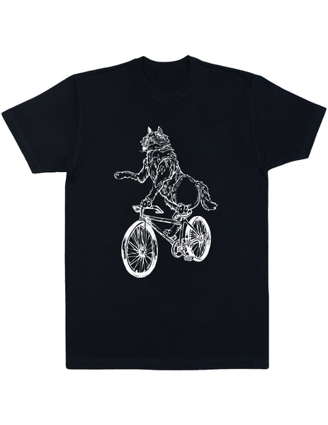 SEEMBO Wolf Cycling Bicycle Men's Cotton T-Shirt