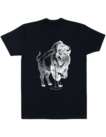 SEEMBO Bison Trying To Sing Men's Cotton T-Shirt