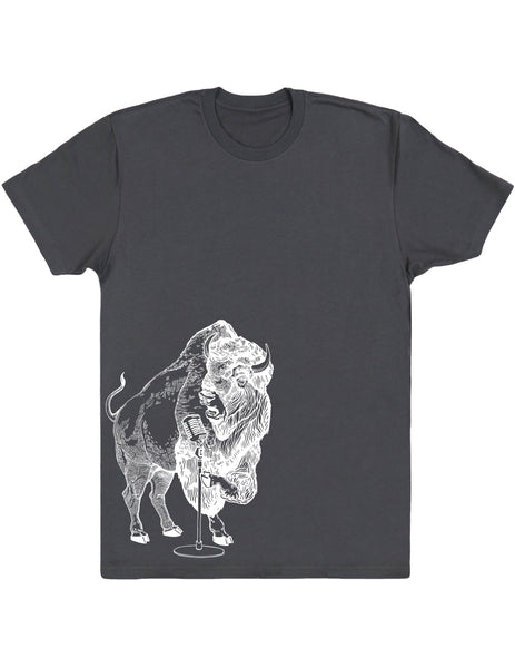 SEEMBO Bison Trying To Sing Men's Cotton T-Shirt Side Print