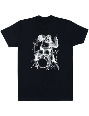 SEEMBO Gorilla Playing Drums Men's Cotton T-Shirt