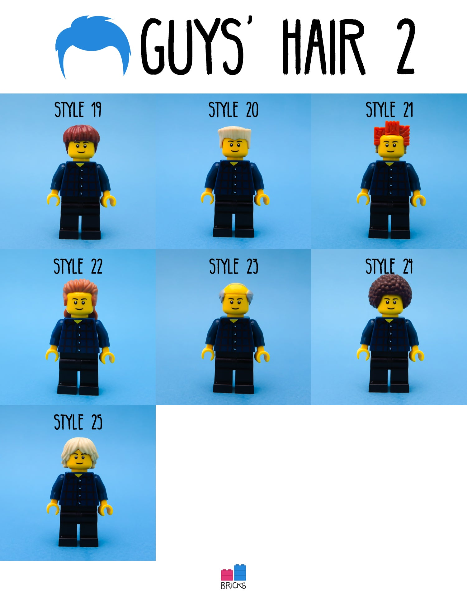 lego hairpiece guys