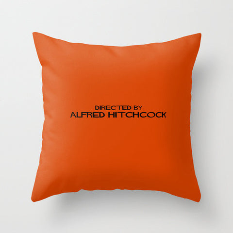 Directed By Alfred Hitchcock Throw Pillow - Directed-By
