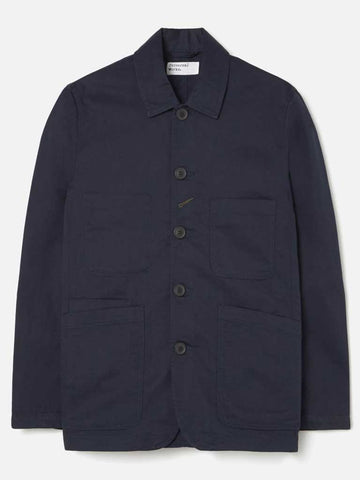 Universal Works Bakers Jacket in Twill Navy