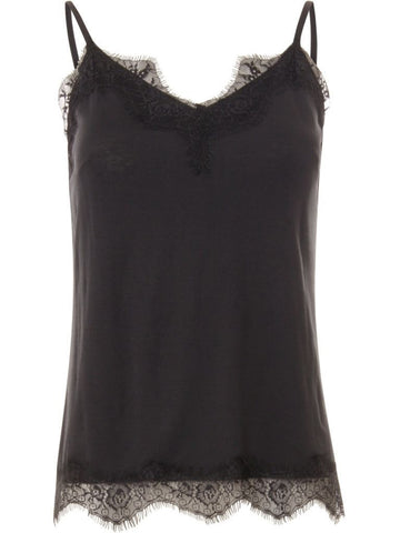 Coster Copenhagen Lace Strap Cami in Dark Blue