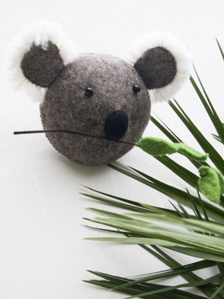 Fiona Walker Koala Mini Head in Grey