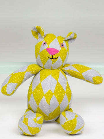 Afro Art Circus Teddy in Yellow