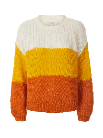 Lolly's Laundry Terry Block Sweater in Mustard