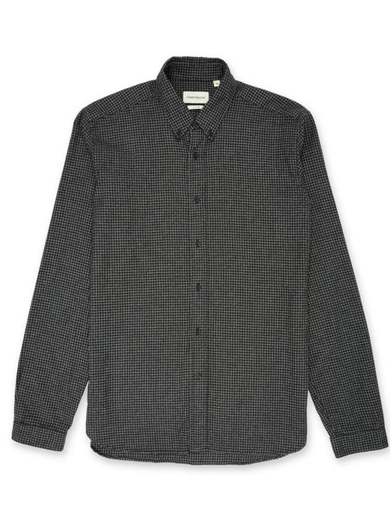 Oliver Spencer Clerkenwell Tab Shirt in Chester Grey