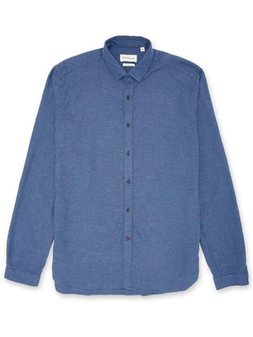 Oliver Spencer Clerkenwell Tab Shirt in Pippen Blue