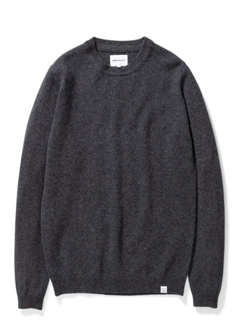 Norse Projects Sigfred Lambswool Sweater in Charcoal Melange