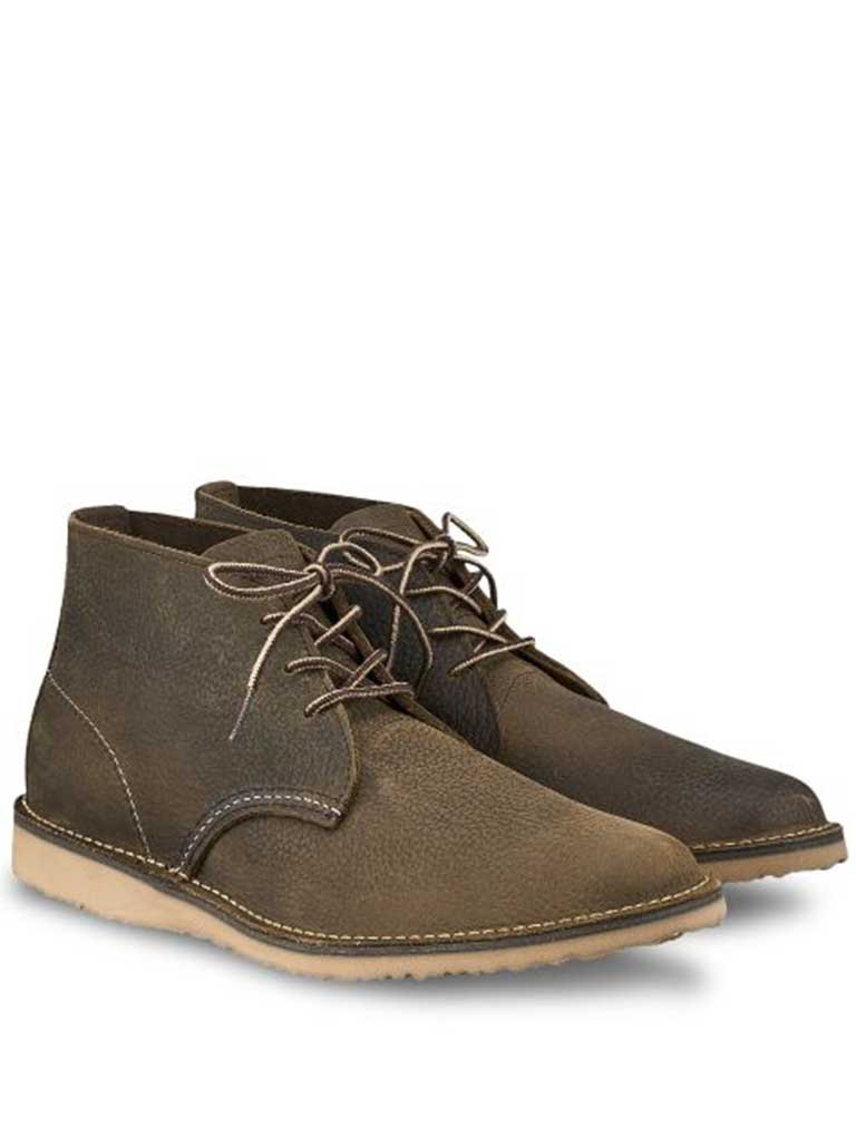 Redwing Weekender Chukka Boot in Olive Brown