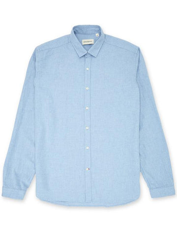 Oliver Spencer Clerkenwell Tab Shirt in Woburn Sky Blue