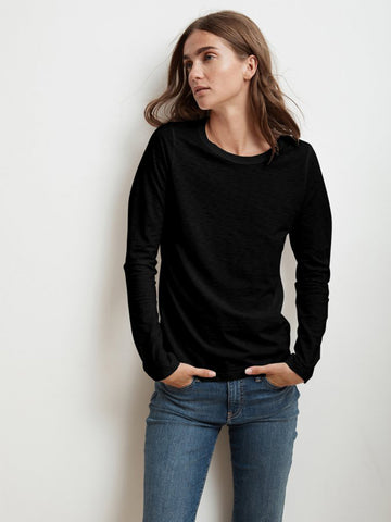 Velvet Liz T-Shirt in Black