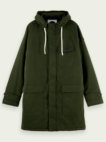 Scotch & Soda Parka Jacket in Army