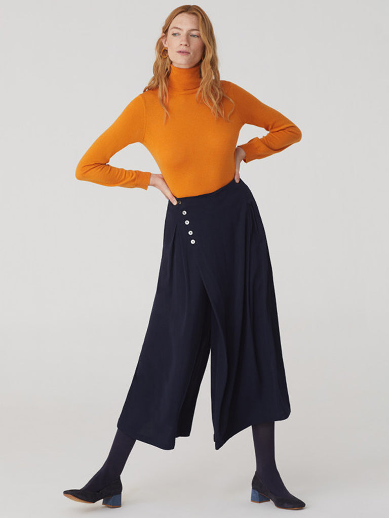Nice Things Midi Culotte in Navy