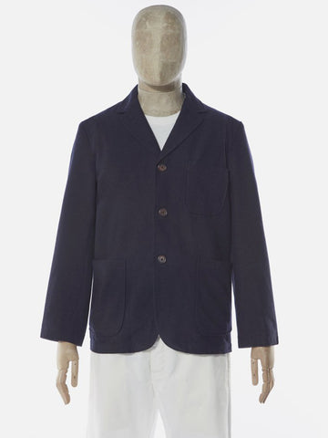 Universal Works Three Button Jacket in Navy