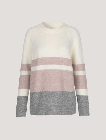 Samsoe & Samsoe Nor O-Long Stripe Knit in Violet Sea