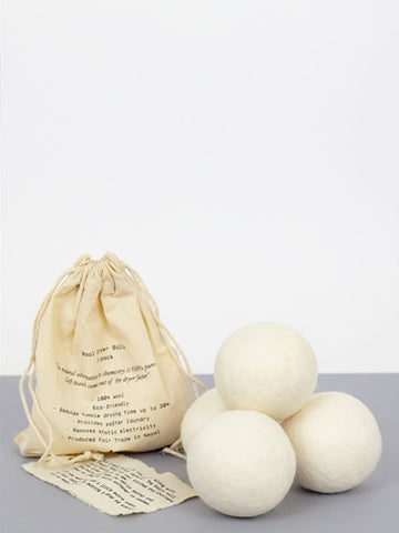 Afro Art Wool Dryer Balls in White