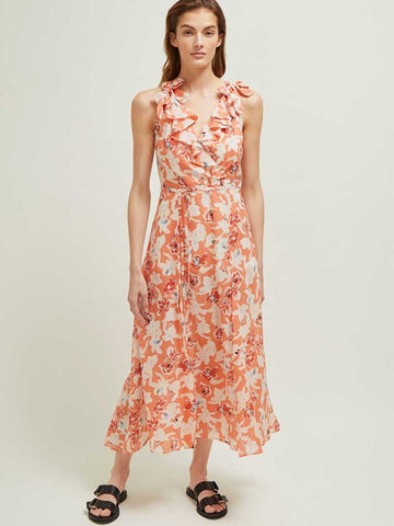 Great Plains Tulum Maxi Dress in Rust