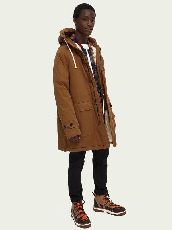 Scotch & Soda Parka Jacket in Fawn