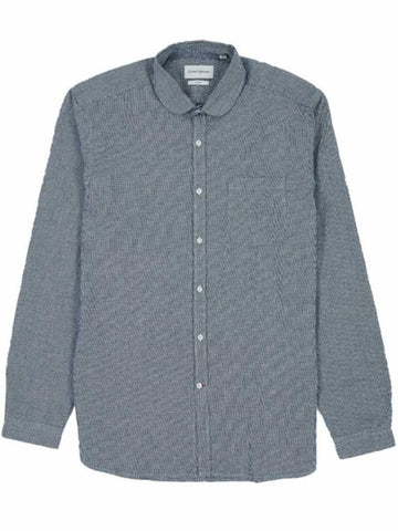Oliver Spencer Eton Collar Shirt in Olson Indigo