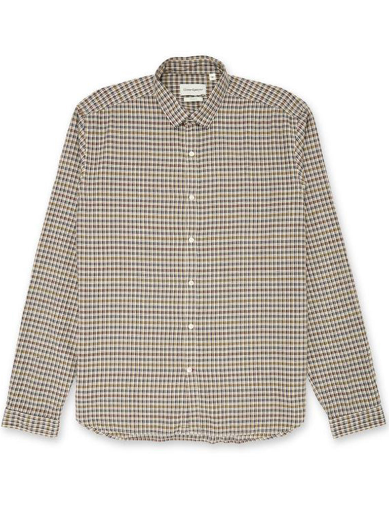 Oliver Spencer Clerkenwell Tab Shirt in Thorndon Multi