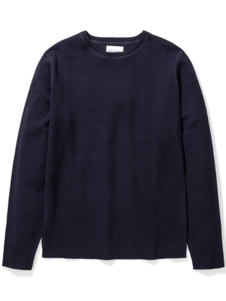Norse Projects Lauge Stitch Knit in Dark Navy
