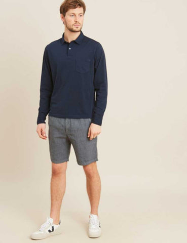 Hartford Boy Linen Shorts in Petrol