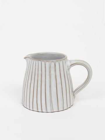 Afro Art Rhea Fluted Jug in White