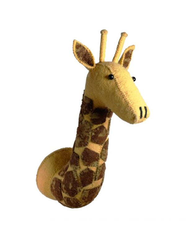 Fiona Walker Mini Giraffe Head in Yellow