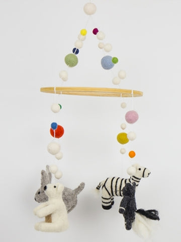 Afro Art Felt Animal Mobile