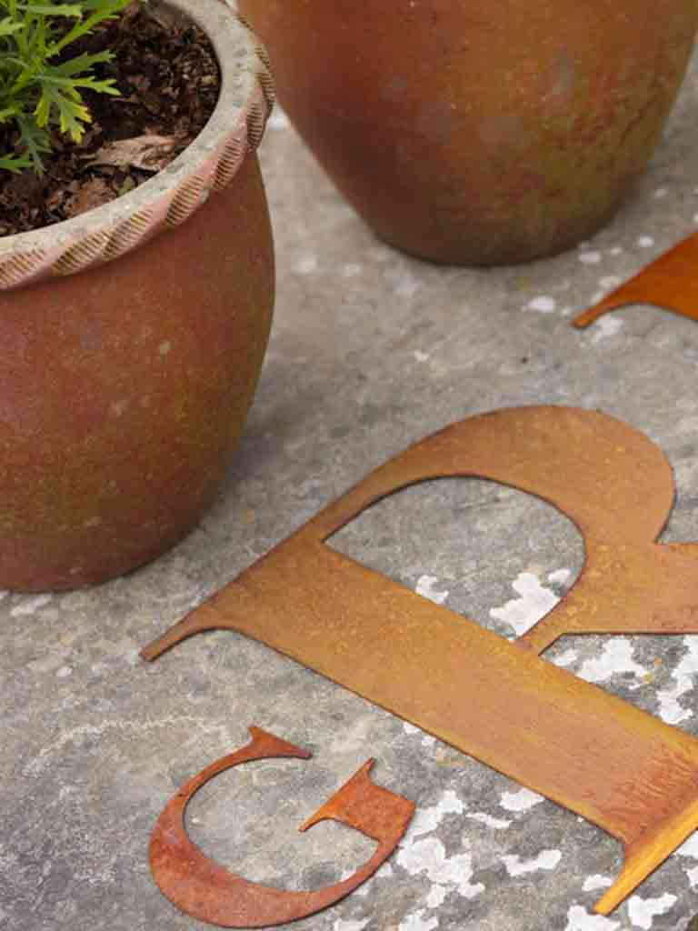 Re-found Objects Rusty Letters P