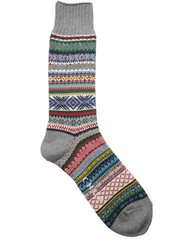 Chup Aistear Socks in Fossil