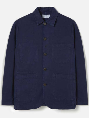 Universal Works Canvas Bakers Jacket in Navy