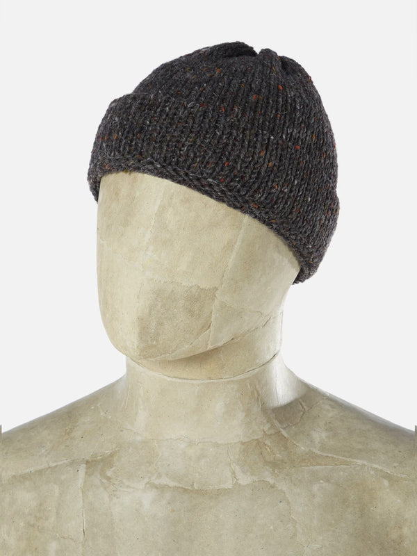 Universal Works Short Watch Cap in Chocolate Kilcarra Wool