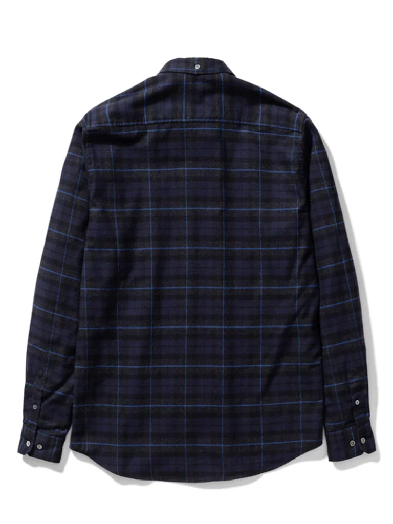Norse Projects Anton Check Shirt in Navy