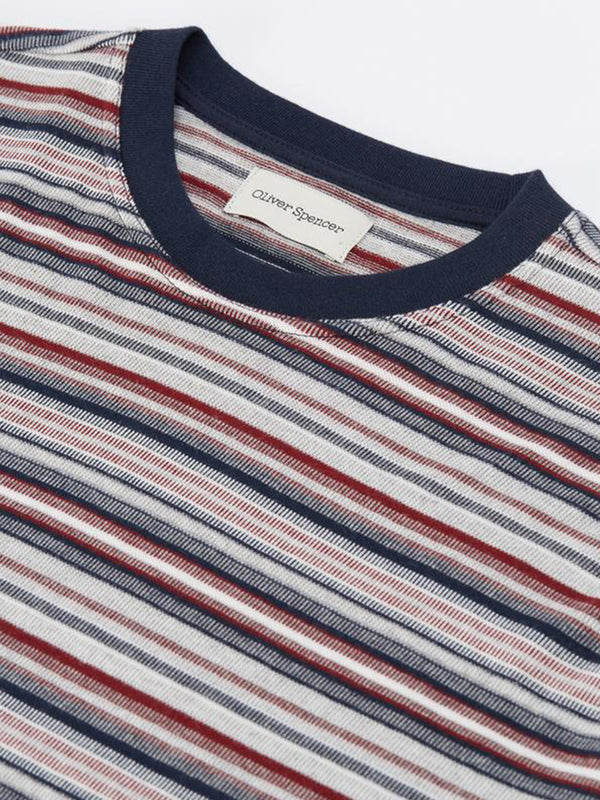 Oliver Spencer Box T Shirt in Sanders Red