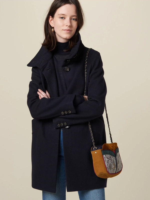 Sessun Chera Coat in Navy