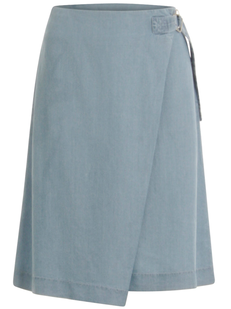 Coster Copenhagen Tencel Wrap Skirt in Light Blue