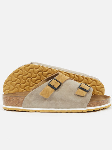 Universal Works Zurich Birkenstock in Taupe and Sand