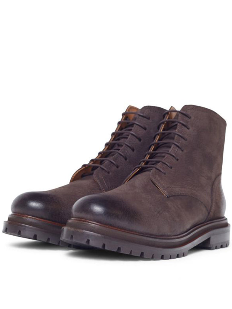 Hudson Lingshaw Nubuk Boot in Brown