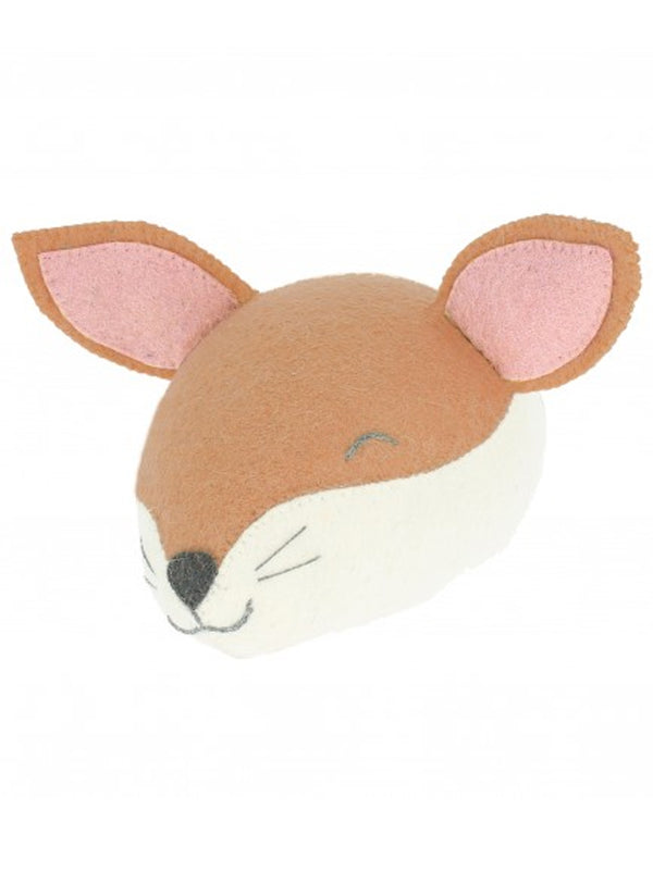 Fiona Walker Mini Sleepy Fox Head in Red